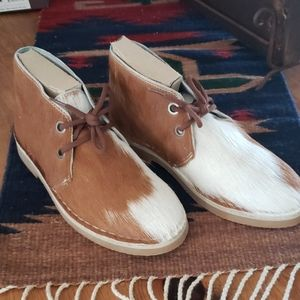 Uwezo Men's Cowhair Leather Shoes size 8